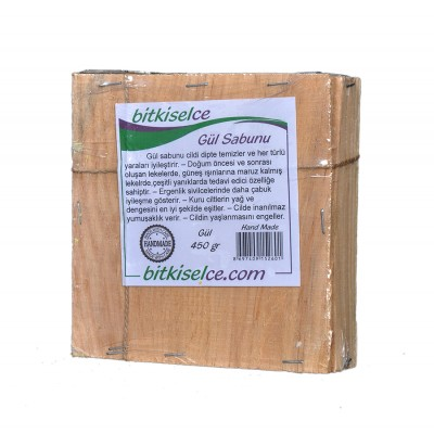Bitkiselce El Yapımı Gül Sabunu 450gr.